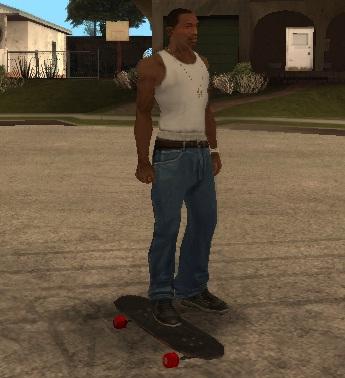 Коды на GTA San Andreas на скейт