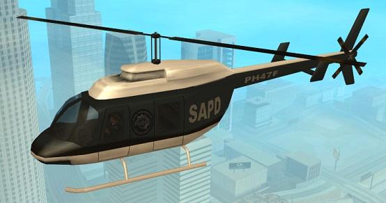 Где найти полицейский вертолет в GTA San Andreas?