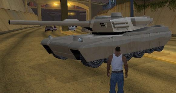 код на танк в GTA San Andreas